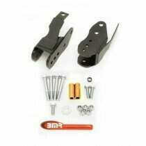 BMR Suspension CAB005H 2005-2014 Mustang Bolt-in Lower Control Arm Relocation Brackets (Black Hammertone)