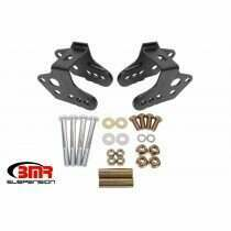 BMR CAB740H 1979-2004 Mustang Lower Bolt-In Lower Control Arm Relocation Brackets (Black Hammertone)