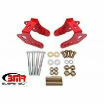 BMR CAB740R 1979-2004 Mustang Lower Bolt-In Lower Control Arm Relocation Brackets (Red)