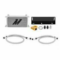 Mishimoto 79-93 Mustang 5.0L Direct Fit Oil Cooler Kit (Silver w/ Thermostatic Sandwich Plate)