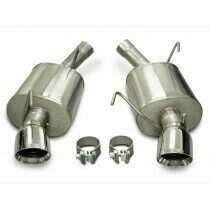 "Corsa 14311 2.5"" Sport Axle-Back with 4"" Polished Pro Series Tips (2005-2010 Mustang GT / 2007-2010 Shelby GT500)"