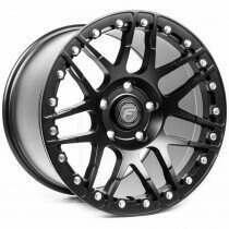 "Forgestar F14 17x10"" Single Beadlock Drag Wheel Matte Black +50mm 5x4.5 (2011+ Mustang)"