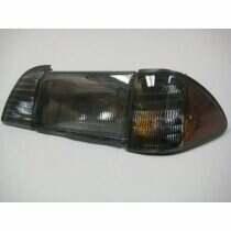 87-93 Mustang 6 Piece Smoked Headlight Set