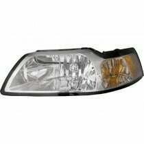 99-04 Mustang Clear Lens Chrome Trim Headlight Set w/ Xenon Bulbs (2 Piece Set)