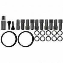 "Race Star Industries 1/2"" x 20 Open End Lug Nut Kit for Direct Drilled Wheels (Half Kit / 10pcs)"