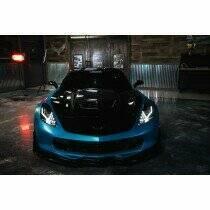 Morimoto XB LED Heads: Chevrolet Corvette (14-19) (Set / Black) (GM Corvette (C7)) - LF463
