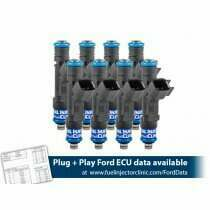 Fuel Injector Clinic 525cc (50 lbs/hr at 43.5 PSI fuel pressure) Injector Set for Mustang GT (1987-2004)/ Cobra (1993-1998)(High-Z)