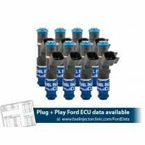 Fuel Injector Clinic 1650cc (160 lbs/hr at 43.5 PSI fuel pressure) Fuel Injector Set for Ford GT500 (2020)/Mustang GT (2005-2020 )/GT350 (2015-2020)/ Boss 302 (2012-2013)/Cobra (1999-2004) (High-Z)
