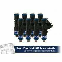 Fuel Injector Clinic 650cc (62 lbs/hr at 43.5 PSI fuel pressure) Fuel Injector Set for Ford Shelby GT500 (2007-2014) / Ford GT40 (2005-2006)(High-Z)