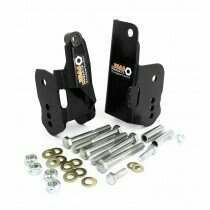 J&M 05-2014 Mustang Bolt-In Lower Control Arm Relocation Brackets (Black)