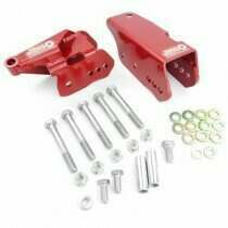 J&M 05-2014 Mustang Bolt-In Lower Control Arm Relocation Brackets (Red)