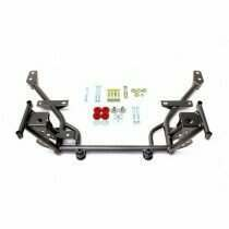 "BMR Tubular K-Member with 1/2"" Lowered Motor Mounts Standard Rack Mounts (Black Hammertone)"