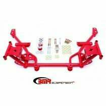 BMR Suspension KM018R Tubular K-Member Standard Motor Mounts Standard Rack Mounts - Red (2005-2014 Mustang)