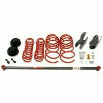BMR Suspension LSP001H 2005-2010 Mustang GT / 07-2014 Shelby GT500 Lowering Package - Coupe (Black Hammertone)