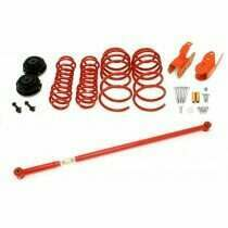 BMR Suspension LSP001R 2005-2010 Mustang GT / 07-2014 Shelby GT500 Lowering Package - Coupe (Red)