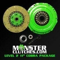 "Monster Clutch MCL2105COB0304 Level 2 11"" Mustang Single Disc Clutch - 525 RWHP/RWTQ (2003-2004 Cobra w/26 Spline)"