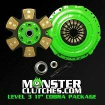 "Monster Clutch MCL3105COB0304 Level 3 11"" Mustang Package - 675 RWHP/RWTQ (2003-2004 Cobra w/26 Spline)"