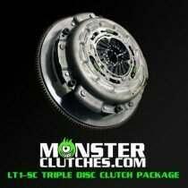 Monster Clutch MCLT1TRSCC6P LT1-SC Triple Disc Clutch Package - C6 Corvette Rated at 1500 RWHP/RWTQ