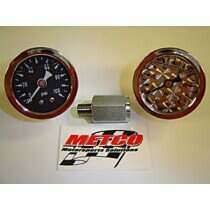 Metco Motorsports Liquid Filled Fuel Rail Gauge Kit