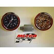 Metco Motorsports Liquid Filled Fuel Rail Gauge Kit