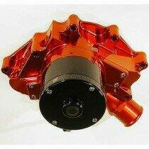 Meziere 86-93 Mustang 5.0L 55GPM Electric Water Pump - No Idler (Red)