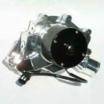 Meziere 86-93 Mustang 5.0L 55GPM Electric Water Pump - No Idler (Chrome)