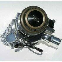 Meziere 86-93 Mustang 5.0L 55GPM Electric Water Pump - With Idler (Chrome)