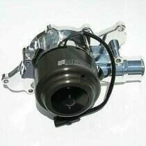 Meziere 94-95 Mustang 5.0L 55GPM Street Electric Water Pump - With Idler (Chrome)