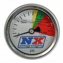 Nitrous Express Flow-Through Nitrous Pressure Gauge - 15508