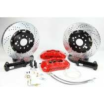 """Baer 1979-2004 Mustang 14"""" Front Pro+ Brake System (Red Calipers)"""