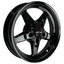"Race Star Drag Wheel 18"" x 5"" - Dark Star Finish (2011-2014 Mustang GT / 2012-2013 Boss 302 / 2013 & 2014 GT500 & 2015+ GT w/ Standard or Upgraded Brake Pkg)"