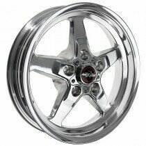 "Race Star Drag Wheel 17"" x 4.5"" - Polished Finish (1979-2014 Mustang, Excludes 2013-2014 GT500, 2015+ Mustang NON Brembo)"