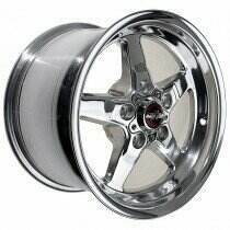 "Race Star Drag Wheel 17"" x 9.5"" - Polished (2005-2014 Mustangs Including GT500's & 2015+ GT w/Standard Brake Package)"