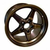 "Race Star 92-745142BZ Drag Wheel 17"" x 4.5"" - Bronze Finish (1979-2014 Mustang, Excludes 2013-2014 GT500, 2015+ Mustang NON Brembo)"