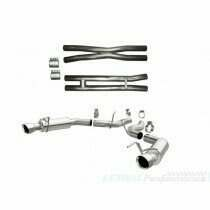 Lethal Performance S550 Mustang GT Exhaust Upgrade Combo (Lethal Resonator Delete with Magnaflow Competition Axle Back)
