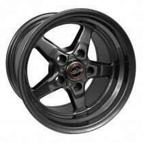 """Race Star 92-795153G Drag Wheel 17"""" x 9.5"""" - Bracket Racer Metallic Gray Finish (2005-2014 Mustangs Including GT500's & 2015+ GT w/Standard Brake Package, 2003-2004 SVT Cobra)"""