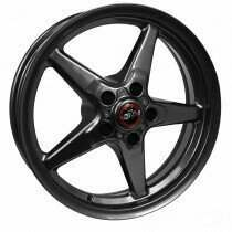 "Race Star 92-745142G Drag Wheel 17"" x 4.5"" - Bracket Racer Metallic Gray Finish (1979-2014 Mustang, Excludes 2013-2014 GT500, 2015+ Mustang NON Brembo)"