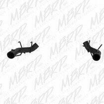 "MBRP 2011-2014 Mustang 5.0L 3"" Muffler Delete Axle-backs w/4"" Tips (Black Coated)"