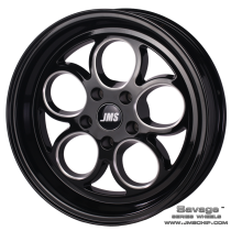 JMS 94-04 Mustang 15x10 Savage Style Wheel (Black Diamond Cut)