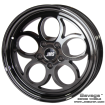 JMS 1994-2018 Mustang 17x4.5 Savage Style Wheel (Black Chrome)