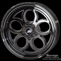JMS 2005-2018 Mustang 17x10 Savage Style Wheel (Black Chrome)