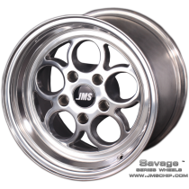 JMS 1994-2018 Mustang 17x4.5 Savage Style Wheel (Polished)