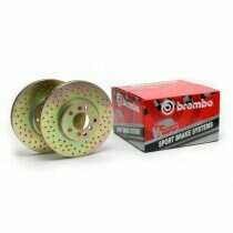 Brembo 05-2010 Mustang V6 Front Drilled Sport Rotors