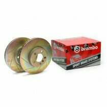 Brembo 05-2010 Mustang V6 Front Slotted Sport Rotors
