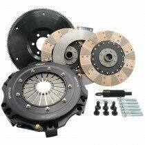 Tilton 55-2003 ST-246 Twin Disc Clutch Kit Solid Hub Cerametallic (Ford Small Block* Tremec T56 6 Speed / TKO 5 Speed 26 Spline)