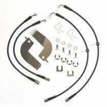 Stifflers FORD-MUSTANG-18 99-04 Cobra Front & Rear Stainless Steel Brake Hose Kit (4 pc)