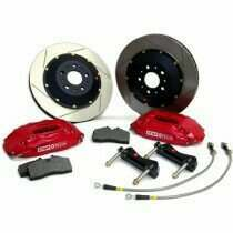 Stop-Tech 05-2014 Mustang GT Big Brake Kit (355x32mm Zinc Coated Slotted Rotors-Red 4 Piston Calipers)
