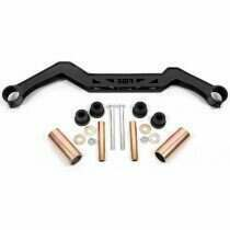 BMR Transmission Crossmember - Black Hammertone (1979-1993 Mustang with TH350, PG, 700R4, C4, C6, AOD, 4L60) - TC730-H