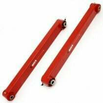 BMR 05-2014 Mustang Non Adjustable Boxed Lower Control Arms with Poly/Spherical Bushing Combo (Red)