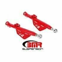 BMR 99-04 Mustang DOM On-Car Adjustable Lower Control Arms - Red (Poly/rod End)